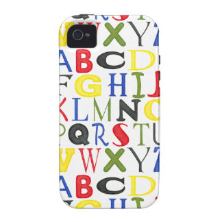 Brightly Colored Letters by Megan Meagher iPhone 4 Cases