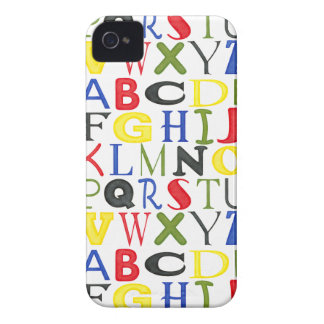 Brightly Colored Letters by Megan Meagher iPhone 4 Cover