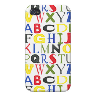 Brightly Colored Letters by Megan Meagher Case For iPhone 4