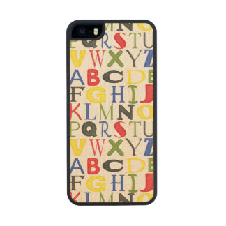 Brightly Colored Letters by Megan Meagher Wood iPhone SE/5/5s Case