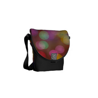 Brightly colored lights courier bag