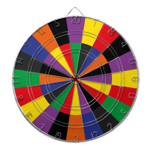 Brightly Colored Party Dartboard Game Room Colors