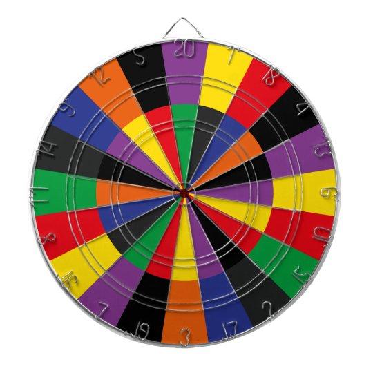 Brightly Colored Party Dartboard Game Room Colors Zazzle Com