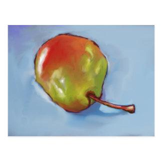 Brightly Colored Pear: Original Art Postcard
