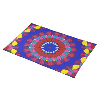 Brightly Colored Placemat Cloth Placemat