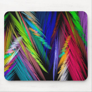 Brightly Colored Psychedelic Modern Art Mouse Pad