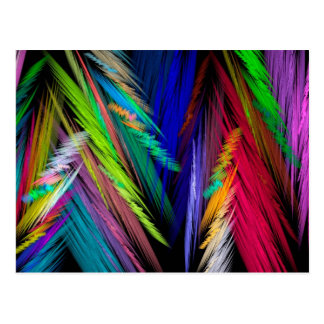Brightly Colored Psychedelic Modern Art Postcard