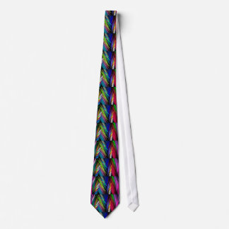Brightly Colored Psychedelic Modern Art Tie