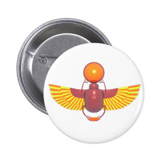 Brightly Colored Scarab Pinback Buttons