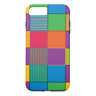 Brightly Colored Squares and Stripes iPhone 7 Plus Case