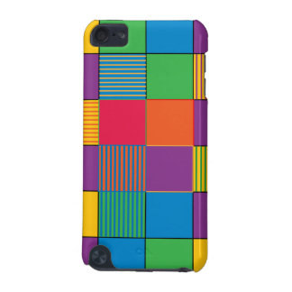 Brightly Colored Squares and Stripes iPod Touch (5th Generation) Cover