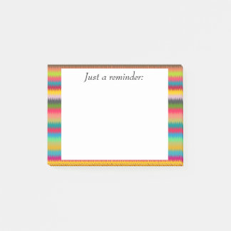 Brightly Colored Stripes Post It Note