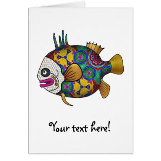 Brightly colored tropical fish - 2 card