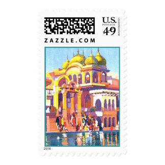 Brightly Colored Vintage India Postage