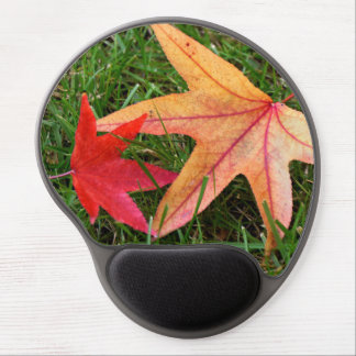 Brightly Colorful Maple Leaf Gel Mouse Pad