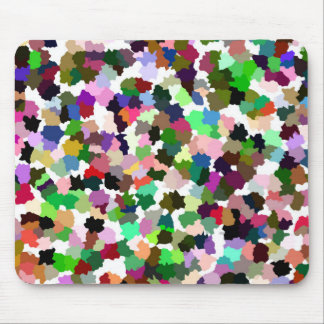 Brightly Colorful Multi-Color Pattern Mouse Pad