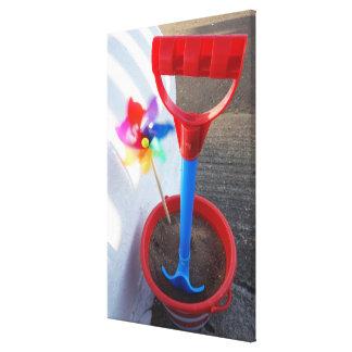 Brightly Coloured Beach Toys Canvas Print