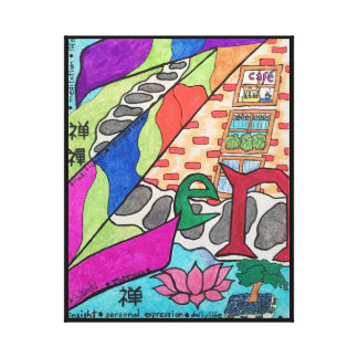 Brightly-coloured Zen Image on Canvas Print