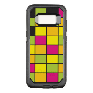 Brightly Neon Colored Squares Pattern OtterBox Commuter Samsung Galaxy S8 Case