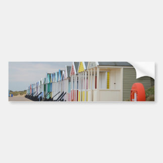 Brightly Painted Beach Huts Bumper Sticker