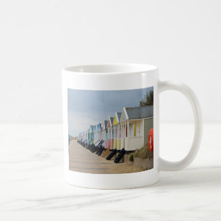 Brightly Painted Beach Huts Coffee Mug