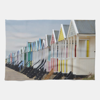 Brightly Painted Beach Huts Hand Towel