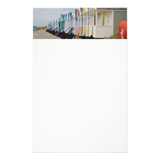 Brightly Painted Beach Huts Stationery