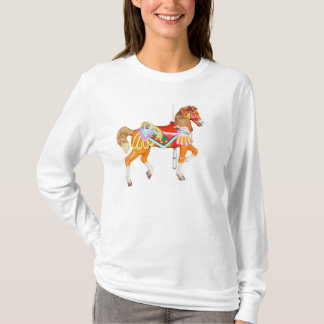 Brightly Painted Carousel Horse T-Shirt