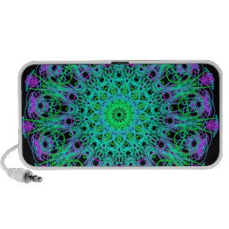 Brightness of Blue Mandala Mania Mp3 Speakers