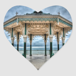Brighton Bandstand, England Heart Sticker