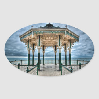 Brighton Bandstand, England Oval Sticker
