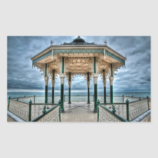 Brighton Bandstand, England Rectangular Sticker