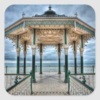 Brighton Bandstand, England Square Sticker