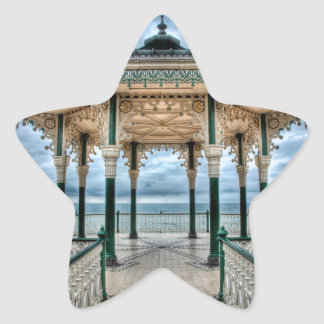 Brighton Bandstand, England Star Sticker