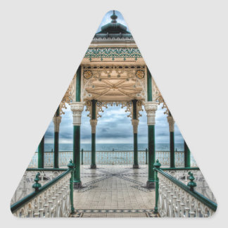 Brighton Bandstand, England Triangle Sticker