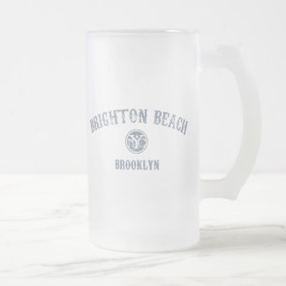 Brighton Beach 16 Oz Frosted Glass Beer Mug