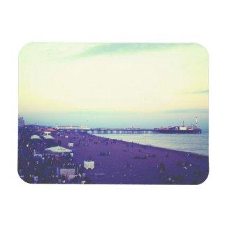 Brighton beach and pier, UK Flexible Magnet