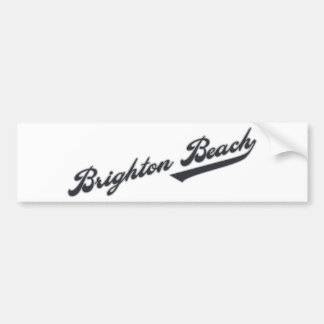Brighton Beach Car Bumper Sticker