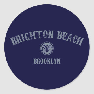 Brighton Beach Classic Round Sticker