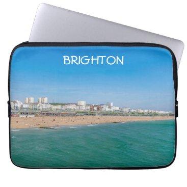 Beach Themed Brighton beach laptop sleeve