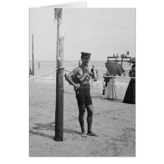Brighton Beach Life Guard, 1906 Card