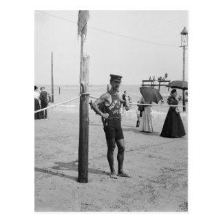 Brighton Beach Life Guard, 1906 Postcard