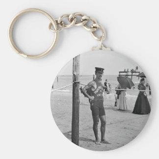 Brighton Beach Lifeguard, early 1900s Keychain
