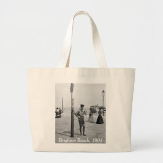 Brighton Beach Lifeguard, early 1900s Large Tote Bag