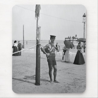 Brighton Beach Lifeguard, early 1900s Mouse Pad