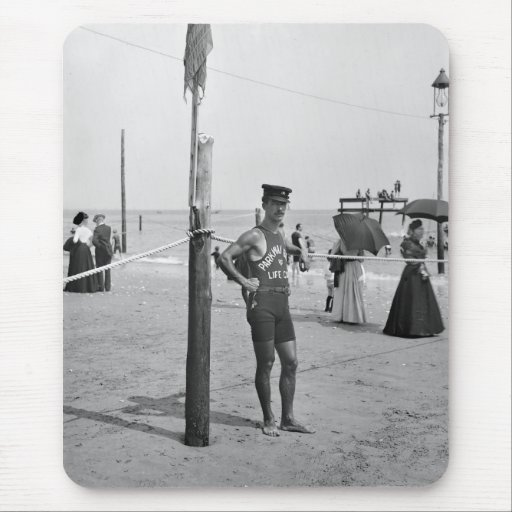 Brighton Beach Lifeguard, early 1900s Mouse Pads