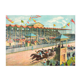 Brighton Beach Racetrack 1887 Canvas Print