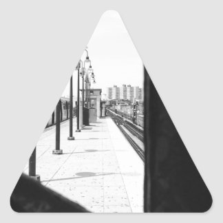 Brighton Beach Subway Stop Triangle Sticker