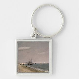 Brighton Beach with colliers, 1824 Keychain