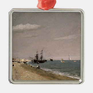 Brighton Beach with colliers, 1824 Metal Ornament